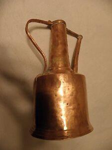 Primative copper ewer, jug or ibrik