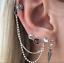 Boho Women Ear Cuff Clip Stud Punk Wrap Ear jacket Earring Cuff Jewelry Set