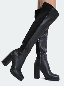 Image is loading Circus-by-Sam-Edelman-Howell-Black-Leather-Suede-