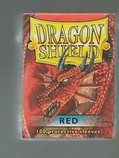 (100) Dragon Shield Red Protective Sleeves Sealed Magic MTG FREE SHIPPING