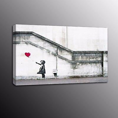 canvas banksy  Graffiti Street WALL Art Print BALLOON GIRL painting Australia