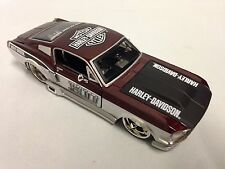 Harley Davidson, 1967 Ford Mustang GT Collectible Diecast 1:24 Maisto Toy, Silve