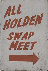 ALL-HOLDEN-SWAP-MEET-man-cave-tin-wall-sign-bar-30x20cm-BNIP-AU-seller-retro