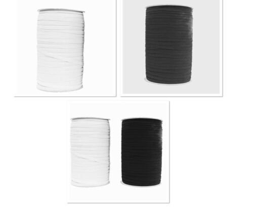 4mm FLAT WOVEN CORDED ELASTIC WAISTBANDS,CUFF,TAILORING SEWING DRESSMAKING