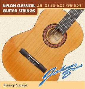 set of six classical guitar strings heavy gauge ebay. Black Bedroom Furniture Sets. Home Design Ideas
