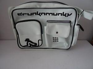 Skater cm 35 cm bandolera Drunknmunky x blanco Negro y 25 Bolso de Patinador 9 YHqTpg