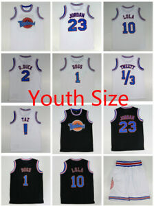 Youth-Size-Space-Jam-Tune-Squad-Basketball-Jersey-and-Shorts-Lola-Bugs-Jordan