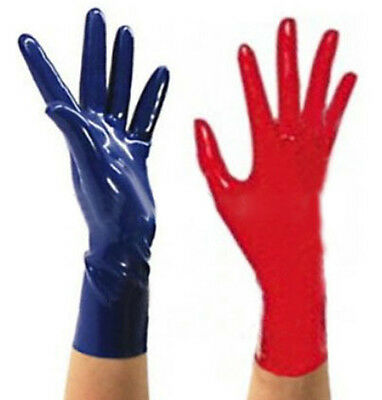 Sexy Latex Gloves Rubber mitten Club Wear for Catsuits Dress