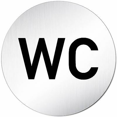 "Aluminium Schild 10 cm Ø /""WC/"" • Toilettenschild • Türschild • Toilette • Klo Tür"