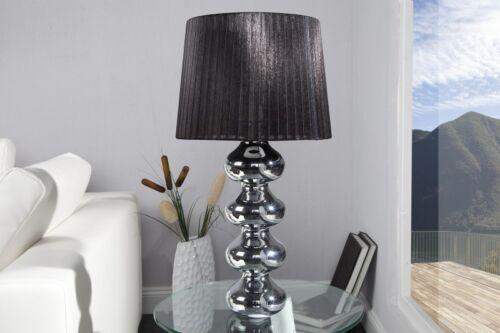Tischlampe Tischleuchte VENEZIA Schwarz//Chrom Design Lampe Nachttischlampe NEU