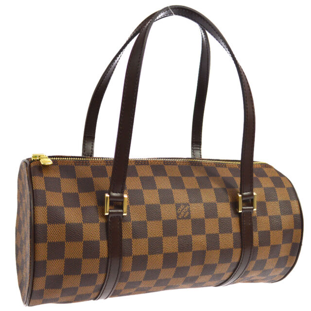 LOUIS VUITTON PAPILLON 30 HAND BAG PURSE DAMIER EBENE N51303 MB0073 02711