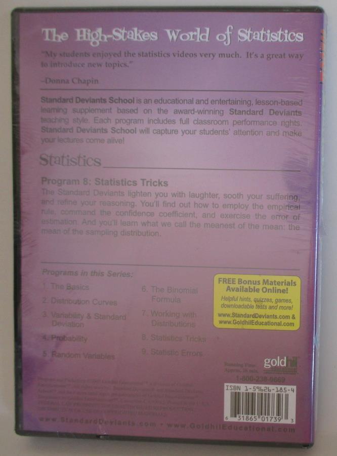 Standard Deviants - Statistics Module 8: Statistics Tricks (DVD, 2004)