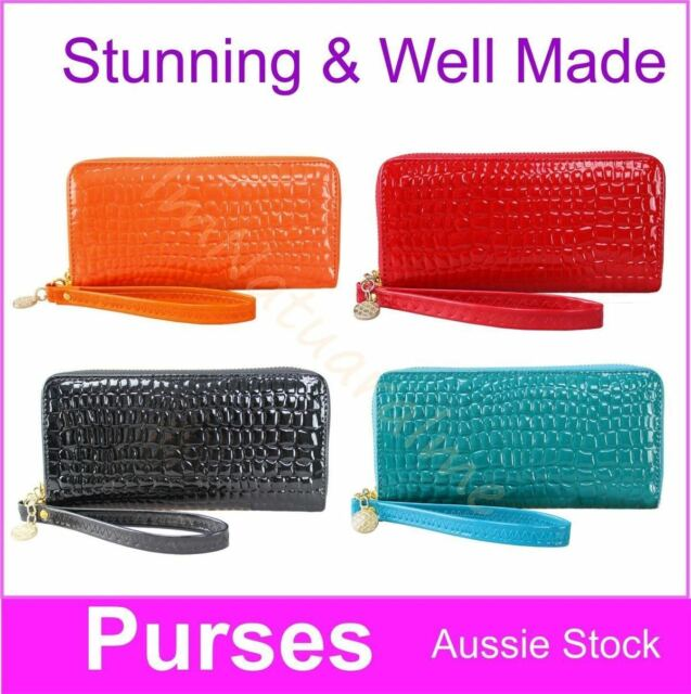 2 x Gorgeous Design Double ZipBi-Fold  Ladies Leather Wallet Clutch Purse