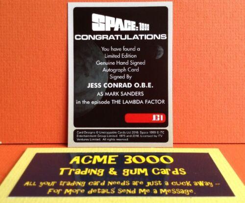 Anderson Space 1999 Unstoppable Jess Conrad OBE Autograph Card JC1 Case Topper