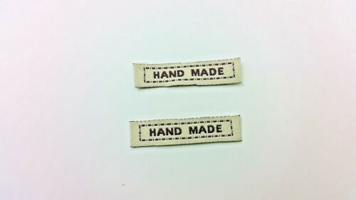 Sew in /'Hand Made/' woven Labels.