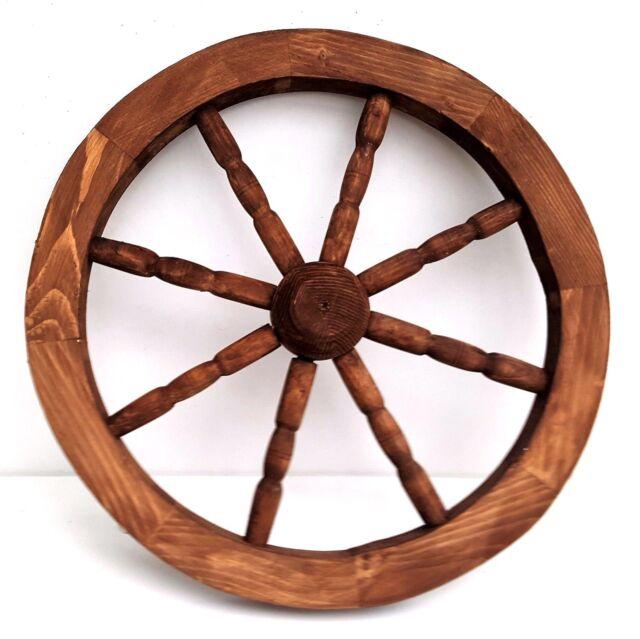 59cm Decorative Garden Cartwheel Ornamental Wooden Cart Wagon Wheels