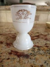 #1 Milk Glass Pedestal Egg Cup I believe with Gold Trim  Very SWEET looks Great