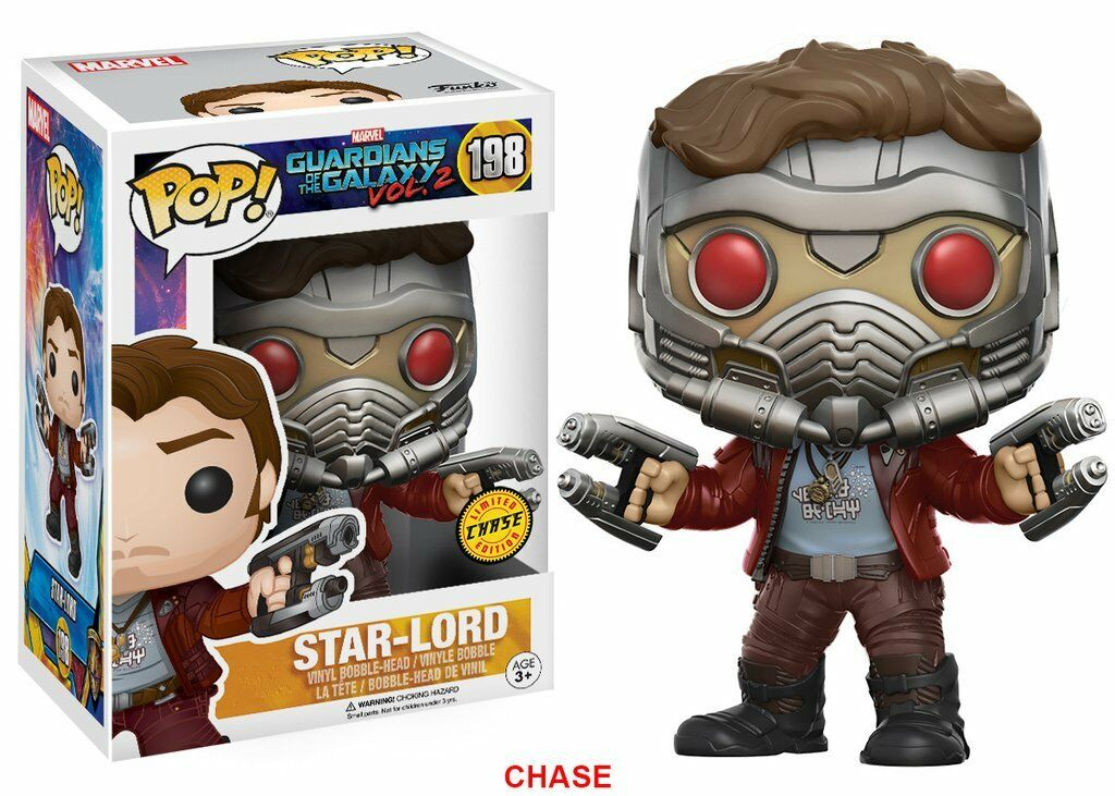 Funko POP - Heroes - Marvel - Guardians Of The Galaxy - 198 Star Lord CHASE