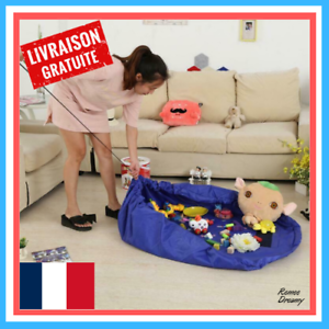 Sac-de-Rangement-Jouet-Tapis-de-Jeu-Pour-Enfant-Portable-Organisateur-de-Jouet