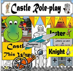castle roleplay teaching resources ks1 ks2 eyfs childminder castles resource cd ebay. Black Bedroom Furniture Sets. Home Design Ideas