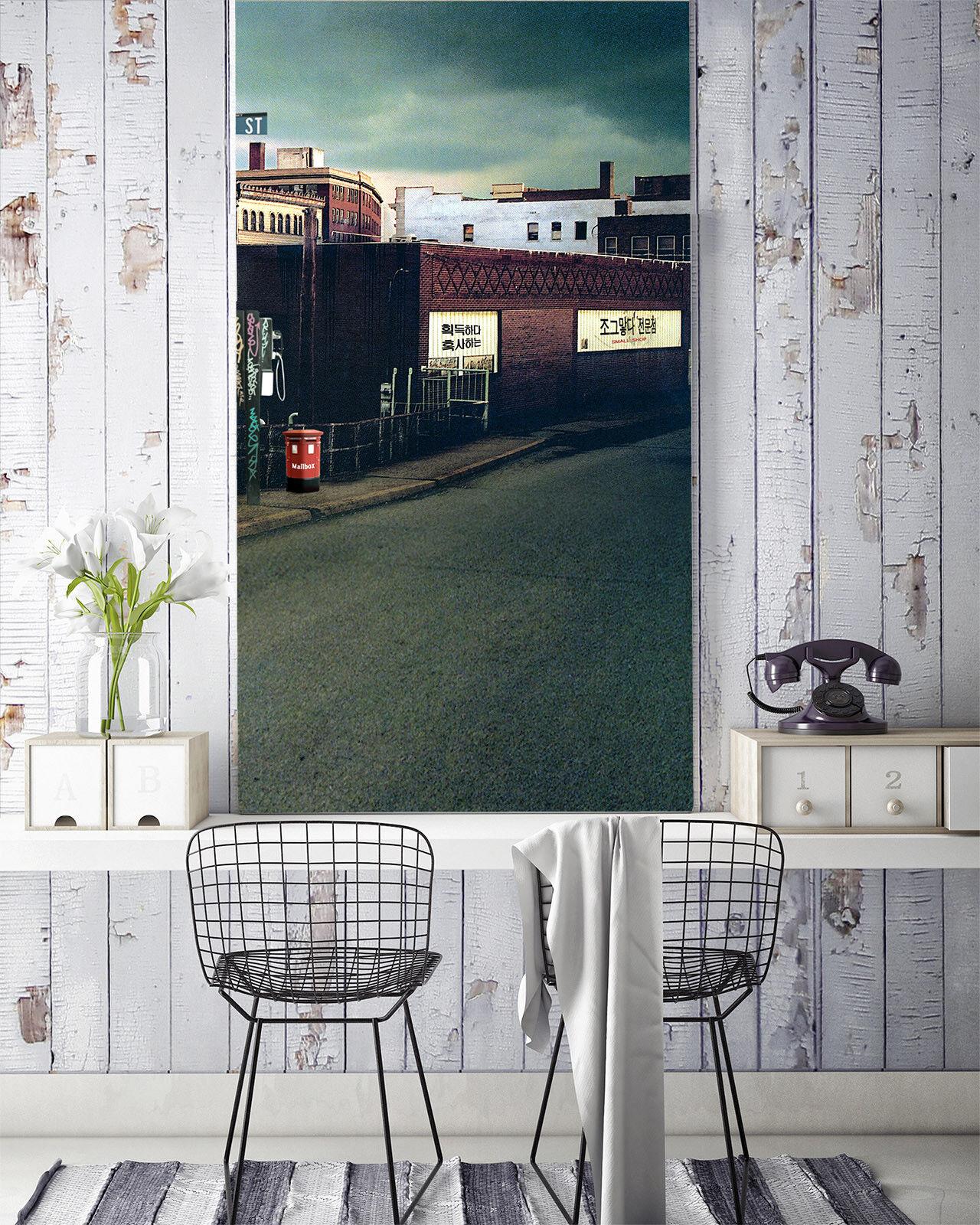 3D House Road 738 Wallpaper Mural Paper Wall Print Wallpaper Murals UK Lemon