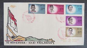 INDONESIE-1961-FDC-10-November-Hari-Pahlawan-Sampul-Hari-Pertama-First-Day
