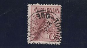 1914-Australia-6d-Kooka-Claret-SG-19-fine-used
