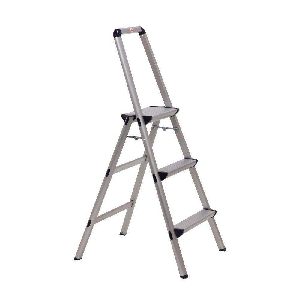 Light Weight Aluminum 3-Step Stool Folding Step Stool Ladder with Handle
