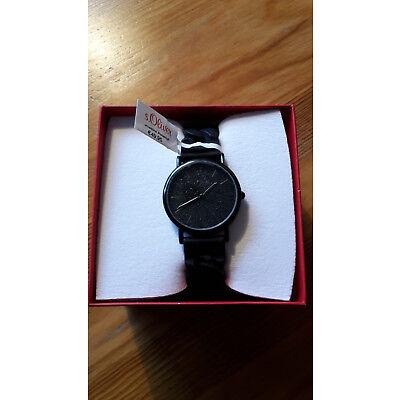S.Oliver Armbanduhr schwarz für Damen,wieNeu,seit Weihnachten nur kurz getragen!