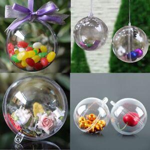 Ebay Christmas Baubles.Details About 12pcs 6cm Ball Christmas Baubles Clear Fillable Xmas Tree Decoration Ornaments