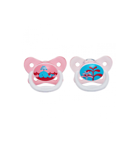 Dr Browns Baby Girls OPTIONS PREVENT Soother Dummy 2 Pack Pink Age 0-6 Months