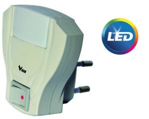 Lampada punto luce led illuminazione notturna con interruttore