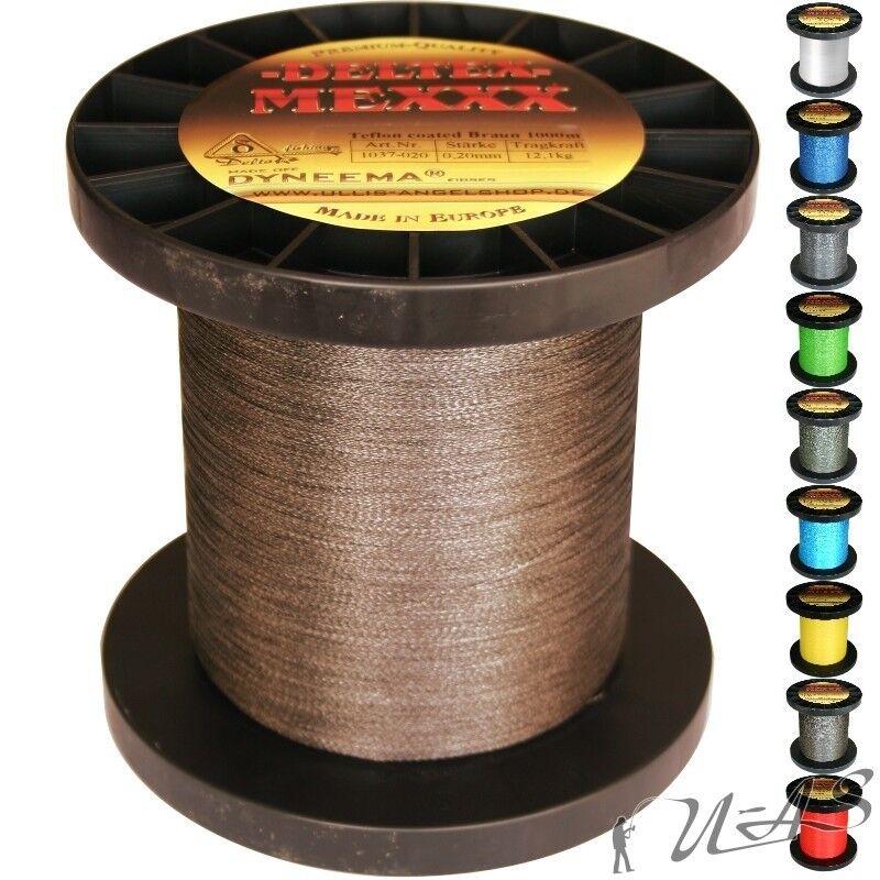 Deltex mexxx Hi-Tec circa intrecciato lenza TEFLON 0,60 1000 mbraun KVA