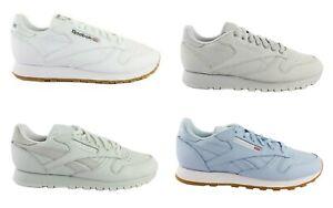 Reebok-Classic-CL-Cuir-Leather-Hommes-Femmes-Chaussures-De-Sport-Sneaker-au-choix