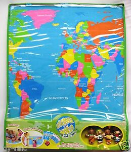 Discover the world map geography educational game by fiesta crafts image is loading discover the world map geography educational game by gumiabroncs