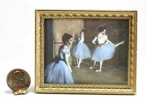Dollhouse Miniature 1:12 Famous Victorian Ballet Painting Print