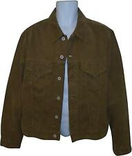 USED Mens Replay Blue Jeans Brow Cord Look Jacket Size X-Large (SA.P)