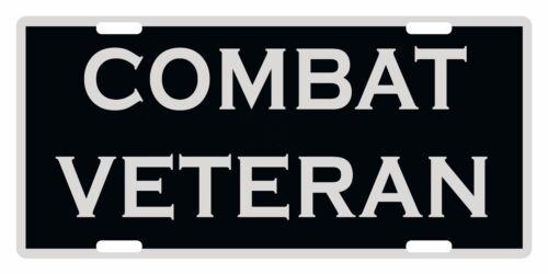 COMBAT VETERAN Custom License Plate Emblem Patriotic Version