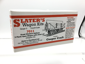 Slaters-7011-O-Gauge-GWR-5-Plank-Open-Wagon-w-Sheet-Rail-Kit