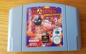 Worms Armageddon-N64 Nintendo 64-Cartucho únicamente-PAL Gratis 1st Class Post