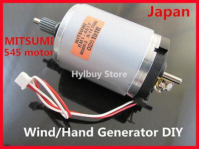 Japan Mitsumi M36N-2 dual shaft 545 DC Motor / Hand Wind Generators DIY 12v~24v