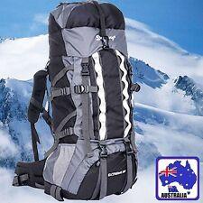 8f1a43e92d 80L Yellow Black Blue Backpack RUCKSACK Adjustable Hiking Bag Bags OBBAG13