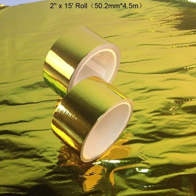 "Reflect Gold Performance Heat Protection Tape/Barrier 2""x15ft Hiwowsport"