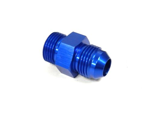 4 4AN FLARE TO 6X1.0MM NPT MALE FITTING BLUE UNIVERSAL ALUMINUM STRAIGHT