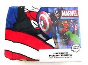 NEW Marvel Avengers Superheroes Oversized Super Soft Plush Throw Blanket Gift
