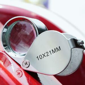 Triplet-Jeweler-039-s-Pocket-Eye-Loupe-Magnifier-10-x-21mm-Jewelry-Magnifying-Glass