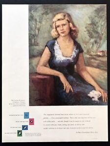 1948 Vintage Impresión Anuncio de Cervezas Diamonds Joyería Peter Lauck Arte
