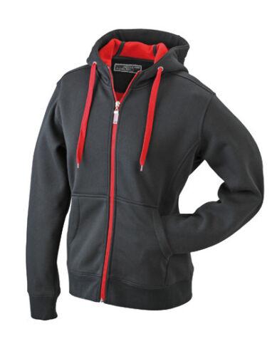JN354 Damen Sweatshirtjacke tailliert Kapuzensweatshirt Kapuzenjacke Sweatshirt