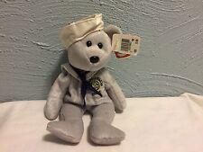 Ty Beanie Babie Baby USS Ronald Reagan CVN 76 RONNIE Navy Sailor USNL Gray ~NEW