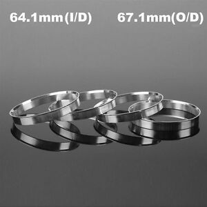 4Pcs-Aluminum-Wheel-Hub-Centric-Rings-Spigot-Spacer-Set-64-1mm-ID-to-67-1mm-OD
